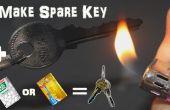 Faire d'urgence maison rechange clé avec TicTac bouteille ou carte de crédit en 2 minutes