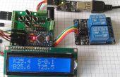 Contrôleur de capteur solaire de l'eau chaude avec thermostat v1.2