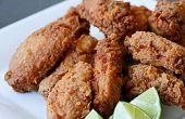 Asian ailes de poulet frit (produits laitiers et oeufs gratuit)