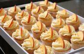 Peach Cupcakes avec glaçage fromage à la crème à Peach