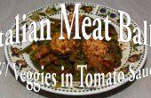 Boulettes de viande copieux avec légumes dans une Sauce tomate aux herbes italiennes