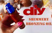 DIY shimmery bronzage huile