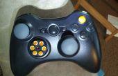 Xbox 360 contrôleur mod avec PS3 coller les plaquettes et relocalisés boutons