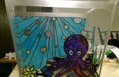 Réservoir de poissons de vitraux Octopus Garden
