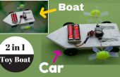 Comment faire un bateau de jouet 2 en 1 (voiture + bateau) - jouet fait maison