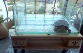 Table de palette aquarium - avec roues