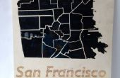 Comment faire un Laser couper le plan de San Francisco
