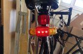 La bicyclette feu clignotant et feu stop