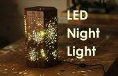 Faire une veilleuse LED W / motif d'étoile