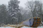 Yeti pieds-Make yeti empreintes dans la neige !