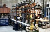 Rack et Station de scie à froid en acier