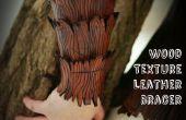 Tutoriel de brassards en cuir texture bois