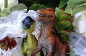 Vous avez tous deux l'amour entre eux et les dinosaures! ? Créez votre Style Jurassique de gâteau de mariage avec plantes succulentes et les dinosaures !