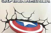 Décoration de mur bouclier Captain America