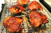 Barbecue de poulet cuit au four