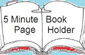 5 support de Page de livre de Minute