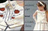 Chemise Western à remodeler de robe Rockabilly