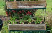 Construire des jardinières rustiques de l'escrime recyclé