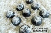 Des chocolats d'huile de coco ~ sans sucre et faible en glucides !