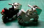 Modèle de jouet moto avec 2 unités de briquets à gaz