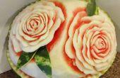 Pastèque sculpture Basics : Roses !