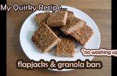 Crêpes & Granola Bars - « aucune vaisselle » recette facile