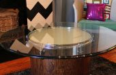Rougeoyant recyclé Drum Coffee Table