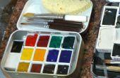 Mobilier palette Altoid Tin aquarelle mis