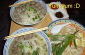 Pho Bo Vien (soupe de boulettes de viande vietnamien mon chemin)