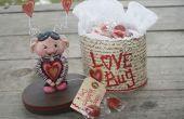 Valentine Paper Clay LOVE BUG traiter boîte!!