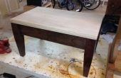 Tabouret en bois bricolage réalisé avec menuiserie trou caché