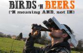 Observation d'oiseau mains libres