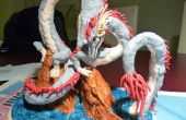 Sculpture en argile Dragon