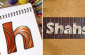 Comment faire des plaques de nom personnalisé avec bandes de papier de Quilling | BRICOLAGE piquants papier lettre | Home decoration