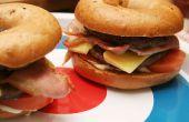 Cheeseburger Double de Bagel Bacon