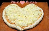 Rose coeur Pizza