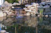 Cascade d'eau ou étang jardin - bâtiment en cascade étang cascades