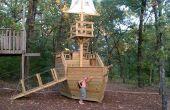 En bois Pirate Ship Playhouse