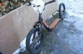 Transformer un vieux vélo d'enfants dans un vélo de kick haché