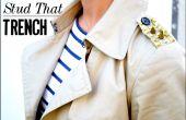 DIY cloutés Trench Coat