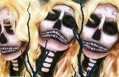 Sexy Blonde Bombshell crâne Halloween maquillage Tutorial