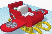 Traîneau de propulsion Jet du père Noël