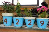 Marqueurs d'adresse de Pot de fleurs