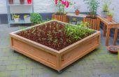 Mètre carré de jardin potager sur roues