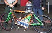 Léger moto électrique avec armature en bambou