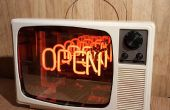 Années 1970 neon Infinity télévision