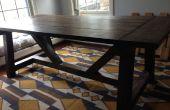 Table à manger rustique ferme style