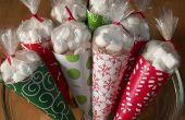 Faire chaud cacao cône Gift Bags... avec votre fer à repasser !