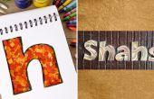 Comment faire des plaques personnalisées avec des confettis | BRICOLAGE piquants papier lettre | Home decoration