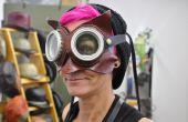 3-en-1 en cuir Dr Whoo hibou masque avec lunettes de protection